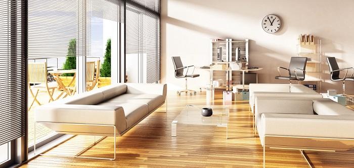 moderne Büroeinrichtung in einem Loftgebäude