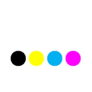 Toner farbig